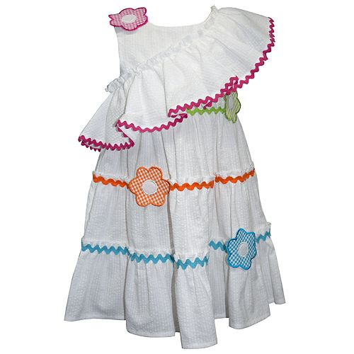 Baby Girl Blueberi Boulevard Floral Ruffled Sundress