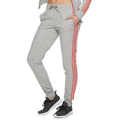 8b680019 Women's adidas Essentials 3-stripe Midrise Pants. Black White Gray Prism  Pink