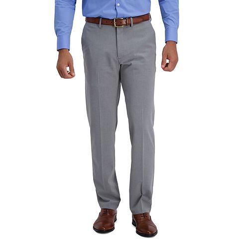 Men's J.M. Haggar Premium Flex-Waist Straight-Fit 4-Way Stretch Flat-Front Dress Pants