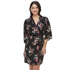 Women's Flora by Flora Nikrooz Angie Printed Knit Wrap Robe