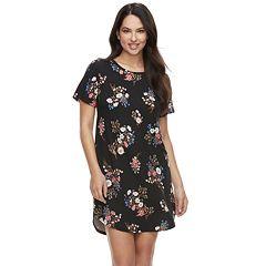 Women's Flora by Flora Nikrooz Angie Printed Knit Sleep Shirt