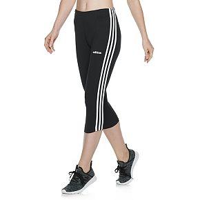 Juniors' adidas 3-Stripe Cropped Capris