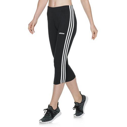 Women's adidas 3 Stripe Cropped Capris