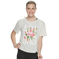 Women's adidas Floral Cropped Tee