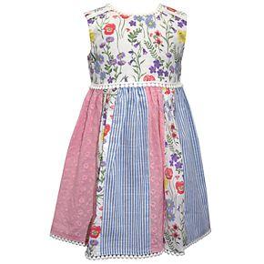 Baby Girl Blueberi Boulevard Pieced Floral Sundress