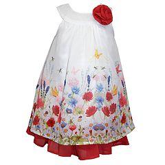 Baby Girl Blueberi Boulevard Floral Chiffon Dress