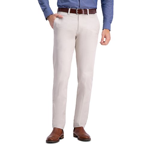 Men's Haggar Premium Comfort Khaki Slim-Fit Stretch Premium Flex Waistband Casual Pants