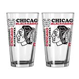 Boelter Chicago Blackhawks Spirit Pint Glass Set