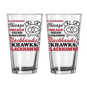 Boelter Chicago Blackhawks Spirit Pint Glass Set