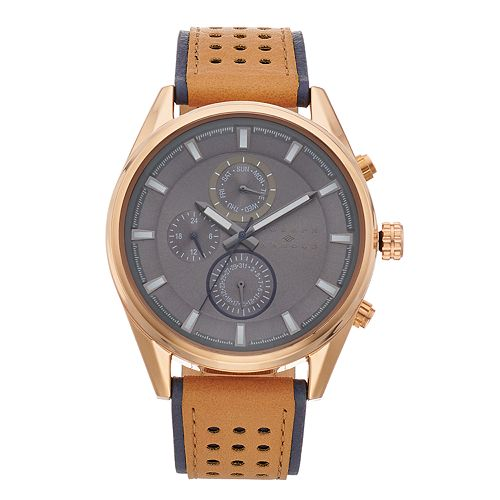 Joseph Abboud Men's Leather Watch