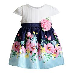 Baby Girl Youngland Knit Floral Dress