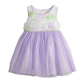 Baby Girl Youngland Soutache Tulle Dress