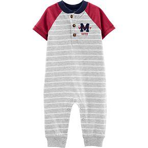 Baby Boy Carter?s Varsity Striped Jumpsuit