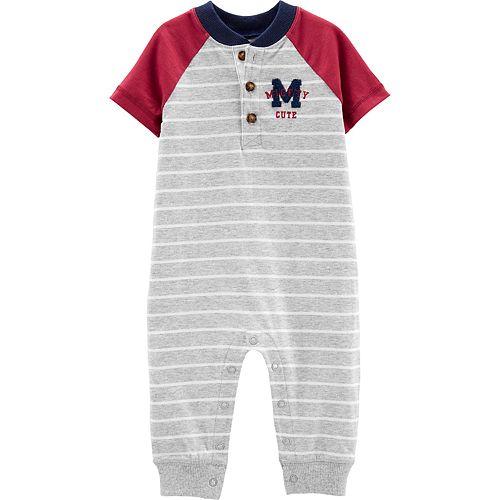 Baby Boy Carter's Varsity Striped Jumpsuit