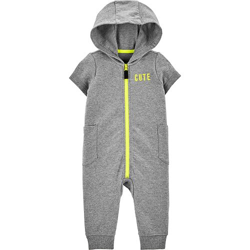 Baby Boy Carter's Hooded Zip-Up French Terry Jumpsuit