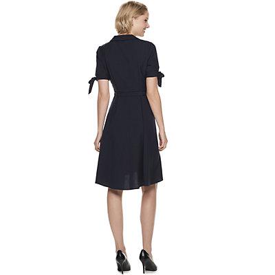 Women's Sharagano Faux-Wrap Shirt Dress