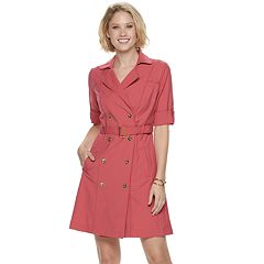 b925b8357c8 Women s Sharagano Double-Breasted Shirt Dress