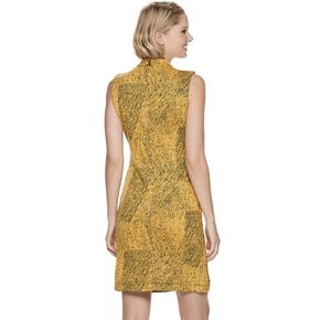Women's Sharagano Textured Mockneck Dress