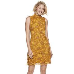 Women's Sharagano Lace Mockneck Sheath Dress