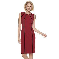 Women's Sharagano Piped Midi Dress