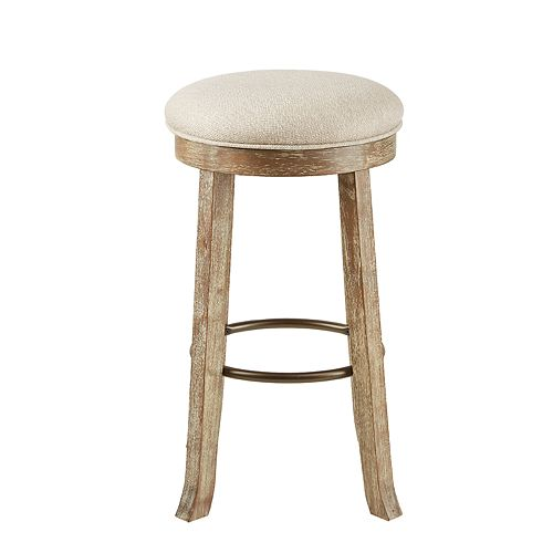 INK+IVY Oaktown Backless Bar Stool with Swivel Seat