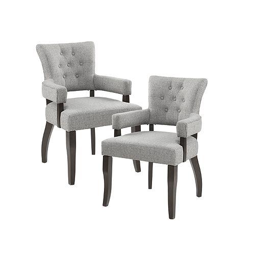 INK+IVY Orlando 2-piece Dining Arm Chair Set