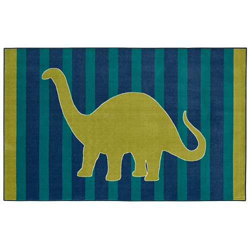 Mohawk® Home Aurora Kids Interactive Friendly Dinosaur Wear-Dated Rug - 7'6'' x 10'