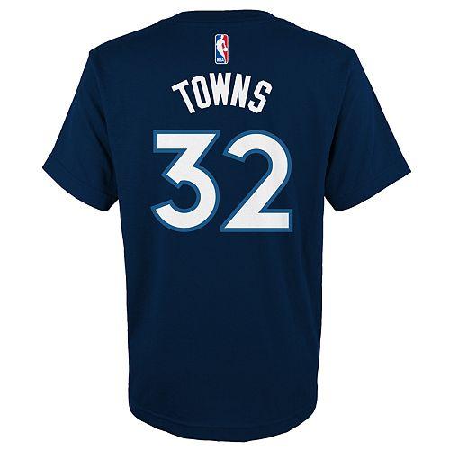 Boys 4-18 Minnesota Timberwolves Karl-Anthony Towns Name & Number Tee