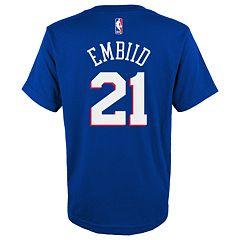 Boys 4-18 Philadelphia 76ers Joel Embiid Name & Number Tee