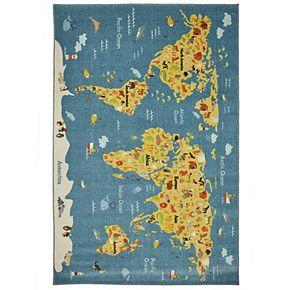 Mohawk® Home Prismatic Animal Map EverStrand Rug