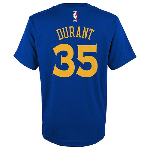 Boys 4-18 Golden State Warriors Kevin Durant Name & Number Tee