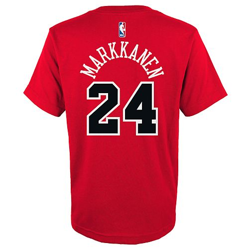 Boys 4-18 Chicago Bulls Lauri Markkanen Name & Number Tee
