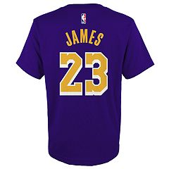Boys 4-18 Los Angeles Lakers LeBron James Name and Number Tee