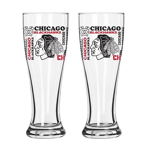 Boelter Chicago Blackhawks Spirit Pilsner Glass Set