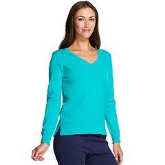 Women's IZOD Button-Accent V-Neck Sweater