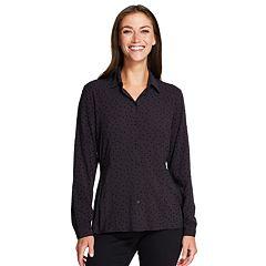Women's IZOD Weekend Flocked Dot Shirt