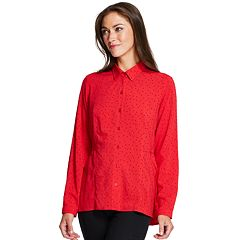 Women's IZOD Weekend Flocked Dot Shirt
