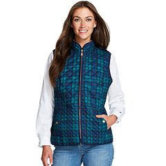 Women's IZOD Plaid Quilted Vest