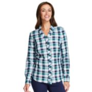Women's IZOD Plaid Ruffle Shirt