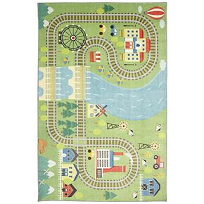 Mohawk® Home Prismatic Train Track Play EverStrand Rug