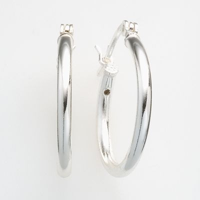 Sterling Silver Twist Hoop Earrings