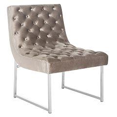 Safavieh Hadley Velvet Tufted Accent Chair