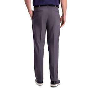 Men's Haggar Premium Comfort Khaki Classic-Fit Flat-Front Hidden Expandable Waistband Casual Pants