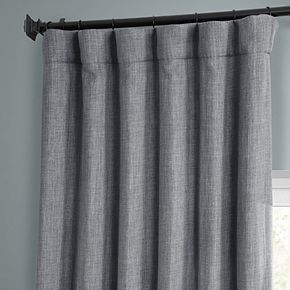 EFF Faux Linen Blackout Window Curtain