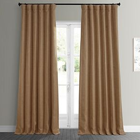 EFF Faux Linen Blackout Window Curtain