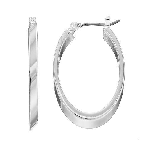 Dana Buchman Polished Oval Hoop Earrings