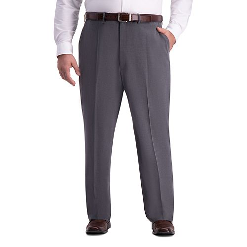 Big & Tall J.M. Haggar Premium 4-Way Stretch Classic-Fit Hidden Expandable Waistband Flat-Front Dress Pants