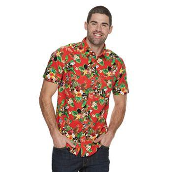 70c90638 Men's Mickey Mouse Hawaiian Shirt