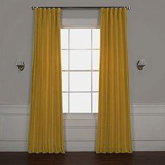 EFF Blackout Vintage Textured Faux Silk Window Curtain