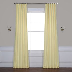 EFF Blackout Vintage Textured Faux Silk Window Curtain
